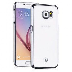 Чехол накладка HOCO Defender series для Samsung Galaxy S6 (Прозрачная / Серая)