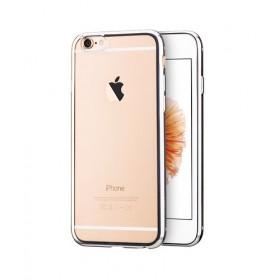 Чехол накладка HOCO Glint Plating TPU для iPhone 6 / 6s (Серебро)