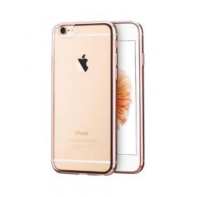 Чехол накладка HOCO Glint Plating TPU для iPhone 6 / 6s (Красное Золото)