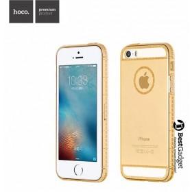 Чехол накладка HOCO Ice Crystal series TPU для iPhone SE / 5s / 5 (Золото)