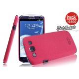 Чехол накладка ImaK для Samsung Galaxy S3 i9300 / Neo i9301i (Cowboy Shell Rose Red) + защитная плёнка