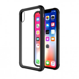 Чехол-накладка TT Glass Case Series для iPhone X / Xs (Black TPU)