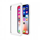 Чехол-накладка TT Glass Case Series для iPhone X / Xs (White TPU)