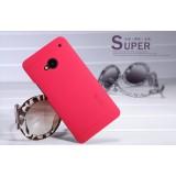 Чехол Nillkin для HTC One M7 (Super Frosted Shield red) + защитная плёнка