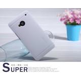 Чехол Nillkin для HTC One M7 (Super Frosted Shield white) + защитная плёнка