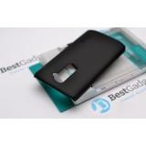 Чехол Nillkin для LG G2 (Super Frosted Shield black) + защитная плёнка