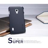 Чехол Nillkin для LG P715 Optimus L7 II Dual (Super Frosted Shield black) + защитная плёнка
