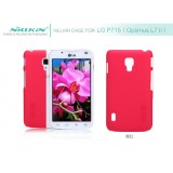 Чехол Nillkin для LG P715 Optimus L7 II Dual (Super Frosted Shield red) + защитная плёнка
