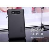 Чехол Nillkin для Nokia Lumia 820 (Super Frosted Shield black) + защитная плёнка