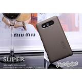 Чехол Nillkin для Nokia Lumia 820 (Super Frosted Shield brown) + защитная плёнка