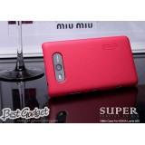 Чехол Nillkin для Nokia Lumia 820 (Super Frosted Shield red) + защитная плёнка