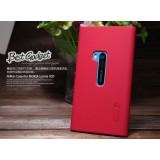 Чехол Nillkin для Nokia Lumia 920 (Super Frosted Shield Red) + защитная плёнка