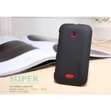 Чехол Nillkin для Nokia Nokia Lumia 510 (Super Frosted Shield Black) + защитная плёнка