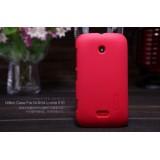 Чехол Nillkin для Nokia Nokia Lumia 510 (Super Frosted Shield Red) + защитная плёнка