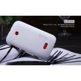 Чехол Nillkin для Nokia Nokia Lumia 510 (Super Frosted Shield White) + защитная плёнка