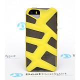 Чехол Pinlo Antlers для iPhone 5s / 5 (Black Yellow) + пленка