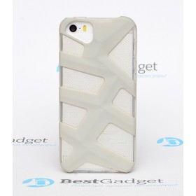 Чехол Pinlo Antlers для iPhone 5s / 5 (White Grey) + пленка
