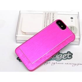 Чехол Pinlo Concize Metal Pro для iPhone 5/5s (Satin Aluminum Rose Red)