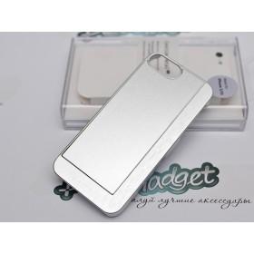 Чехол Pinlo Concize Metal Pro для iPhone 5/5s (Satin Aluminum Silver White)