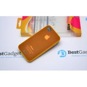 Чехол Pinlo Slice Smoothie для iPhone 4s / 4 (Orange) + пленка