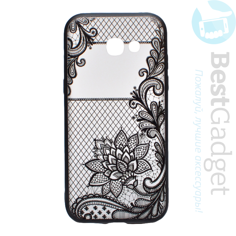 the best attitude ae192 28327 Чехол TPU+PC Tatoo Art Case Samsung A520 Galaxy A5 (2017) (Fantasy Flowers)