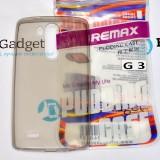 Чехол Ultra Thin Silicon Remax 0.2mm для LG G3 (Прозрачный / Черный)