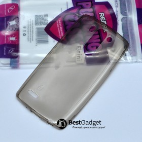 Чехол Ultra Thin Silicon Remax 0.2mm для LG G3s (Dual D724) (Прозрачный / Черный)
