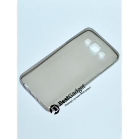 Чехол Ultra Thin Silicon Remax 0.2mm для Samsung Galaxy Grand A3 (Прозрачный / Черный)