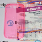 Чехол Ultra Thin Silicon Remax 0.2mm для Samsung Galaxy S3 (Прозрачный / Розовый)