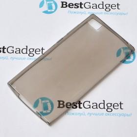 Чехол Ultra Thin Silicon Remax 0.2mm для Xiaomi Mi3 (Прозрачный / Черный)