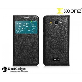 Чехол XOOMZ Original Litchi для Samsung Galaxy Grand 2 Duos g7102 (Черный)