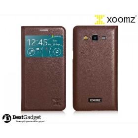 Чехол XOOMZ Original Litchi для Samsung Galaxy Grand 2 Duos g7102 (Кофе / Коричневый)