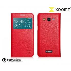 Чехол XOOMZ Original Litchi для Samsung Galaxy Grand 2 Duos g7102 (Красный)