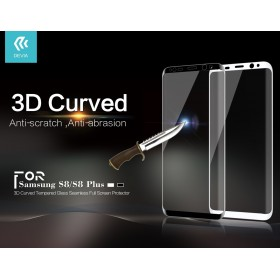 Стекло Devia 3D Curved Tempered Glass Seamless Full Screen для Samsung Galaxy S8 (Черная рамка)