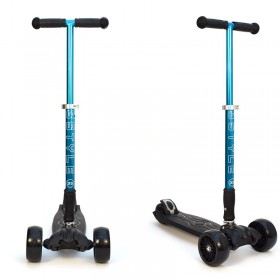 Детский самокат 3Style Scooters® JW032 Pro - Великобритания (Non-Flashing Wheels, Foldable T-bar, Blue color)