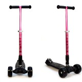 Детский самокат 3Style Scooters® JW032 Pro - Великобритания (Non-Flashing Wheels, Foldable T-bar, Pink color)