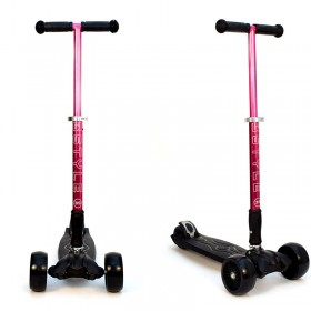 Детский самокат 3Style Scooters® JW032 Pro - Великобритания (Non-Flashing Wheels, Foldable T-bar, Pink color)
