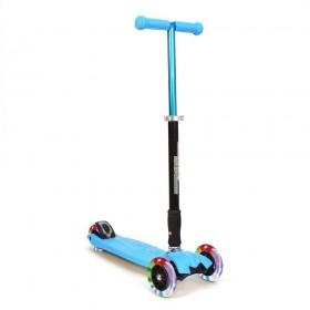 Детский самокат 3Style Scooters® JW032 - Великобритания (Flashing Wheels, Foldable T-bar, Blue color)