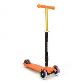 Детский самокат 3Style Scooters® JW032 - Великобритания (Flashing Wheels, Foldable T-bar, Orange color)