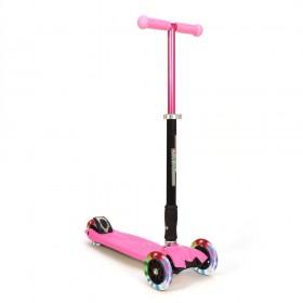 Детский самокат 3Style Scooters® JW032 - Великобритания (Flashing Wheels, Foldable T-bar, Pink color)