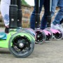 Детский самокат 3Style Scooters® JW032 - Великобритания (Flashing Wheels, Foldable T-bar, Green color)