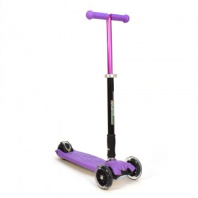 Детский самокат 3Style Scooters® JW032 - Великобритания (Flashing Wheels, Foldable T-bar, Purple color)