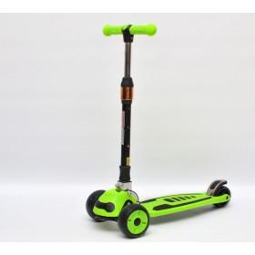 Детский самокат 3Style Scooters® JW035 Update 2018 - Великобритания (Flashing Wheels, Foldable T-bar, Green color)
