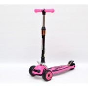 Детский самокат 3Style Scooters® JW035 Update 2018 - Великобритания (Flashing Wheels, Foldable T-bar, Pink color)