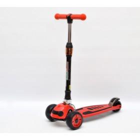Детский самокат 3Style Scooters® JW035 Update 2018 - Великобритания (Flashing Wheels, Foldable T-bar, Red color)