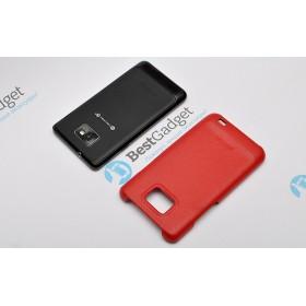 Кожаная накладка HOCO Back Cover для Samsung i9100 Galaxy S2 + пленка (Красный)