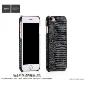 Кожаная накладка HOCO Platinum series Classical Lizard для iPhone 6 / 6s (Black)