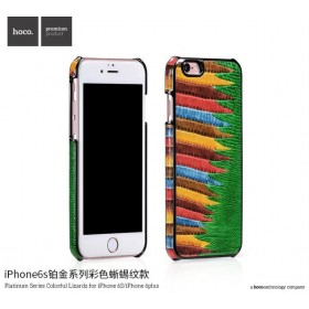 Кожаная накладка HOCO Platinum Series Colorful Lizards для iPhone 6 / 6s (Green)