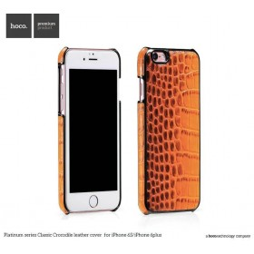 Кожаная накладка HOCO Platinum Series Crocodile Leather для iPhone 6 / 6s (Orange)