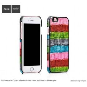 Кожаная накладка HOCO Platinum series Gorgeous Bamboo для iPhone 6 / 6s (Pink/Red)